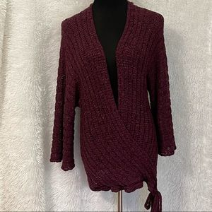 bebe Women's Twisted Tie Front Knitted Sweater